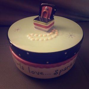 Other - Girls Love sparkle Jewelry Box